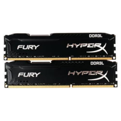Оперативная память Kingston HyperX FURY Black Series [HX318LC11FBK2/16] 16 ГБ