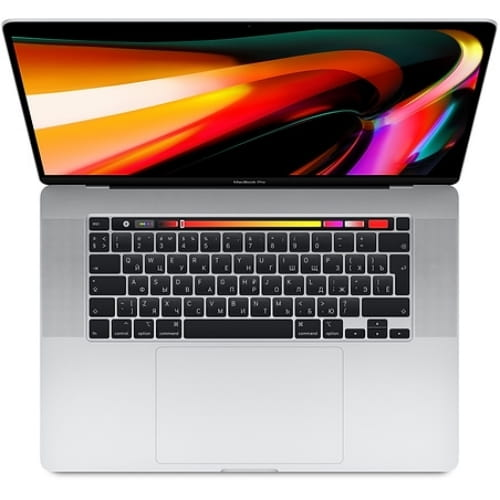 "Ноутбук 16"" Apple MacBook Pro with Touch Bar: 2.6GHz 6-core 9th-generation Intel Core i7 processor, 512GB SSD, 16GB DDR, Radeon 5300M - Silver"