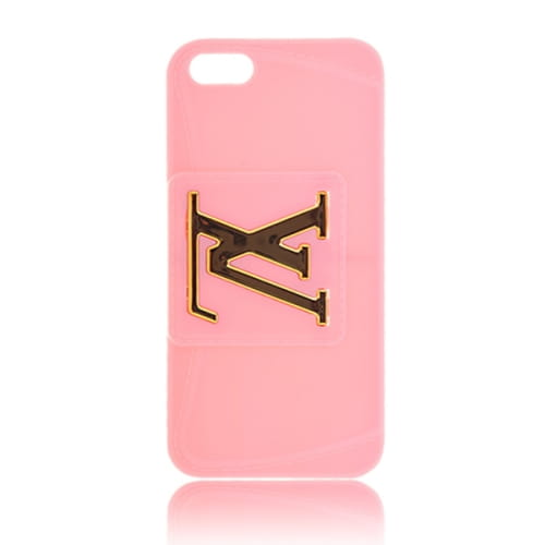 Чехол Louis Vuitton для iPhone 5S / 5 розовый